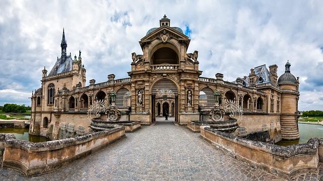 Chateau, Chantilly, France, Castle, Tourism