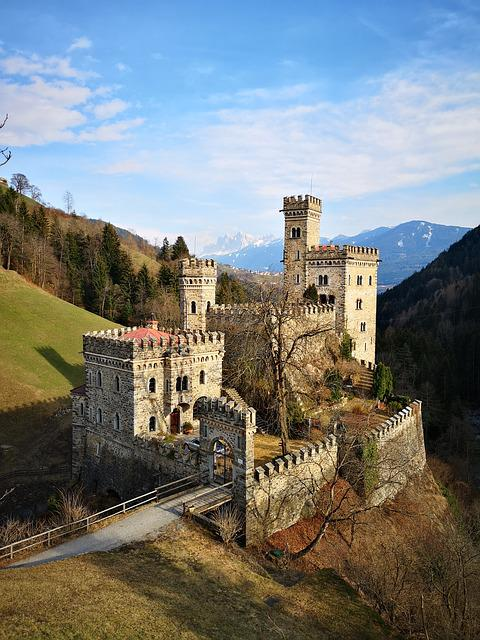 Castle, Construction, Walls, South Tyrol, Italy, Odle