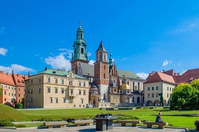 Krakow, Castle, Fortress, Garden, Wawel, Europe, Poland
