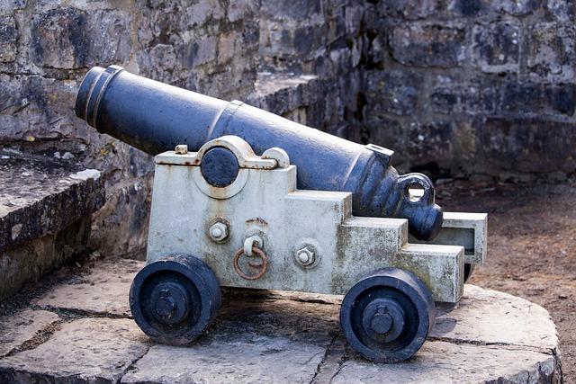 Cannon, Gun, Rampart, Battlement, Castle, Weapon, War
