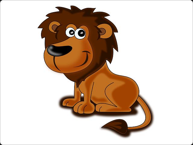 Lion, Animal, Africa, Safari, Cat, Cartoon, Cute, Smile