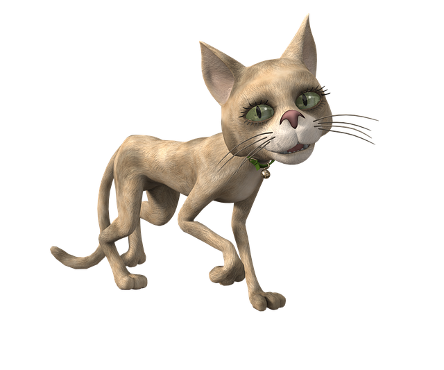 Toon, Cat, Funny, Render, Pose, Cheeky, 3d, Green Eyes