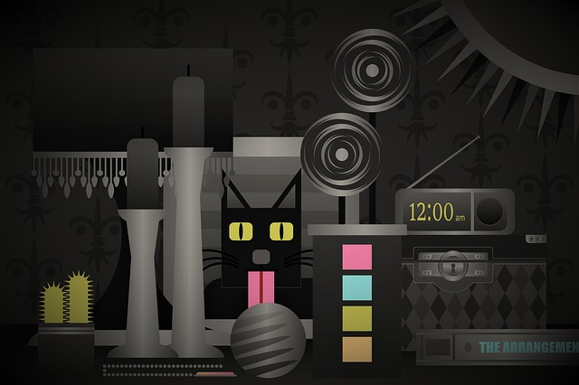 Cat, Dark, Digital, Time, Clock, Play, Game