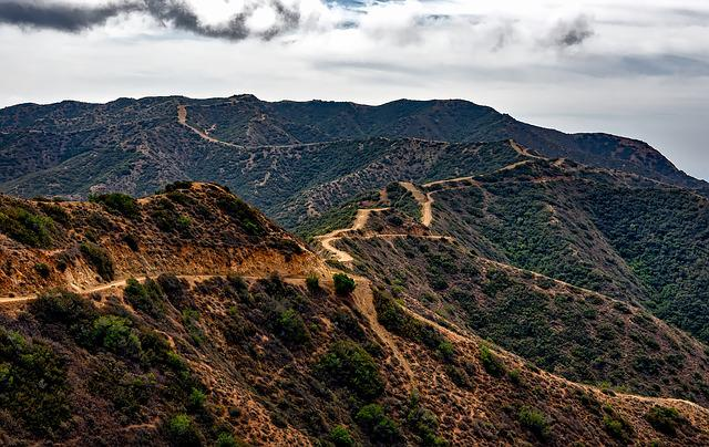 Catalina Island, California, Landscape, Dirt Road