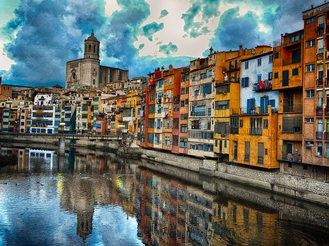 Girona, Catalonia, Spain, Cathedral, Architecture, City