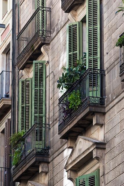 Barcelona, Spain, Catalonia, Street, House, Balcony