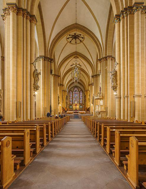 Church, Within, Bank, Altar, Religion, Cathedral