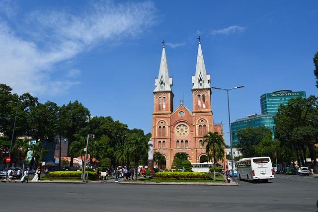 Cathedral, Church, Architecture, Saigon