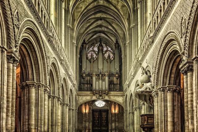 Cathedral, France, Notre-dame, Normandy, Bayeux, Church