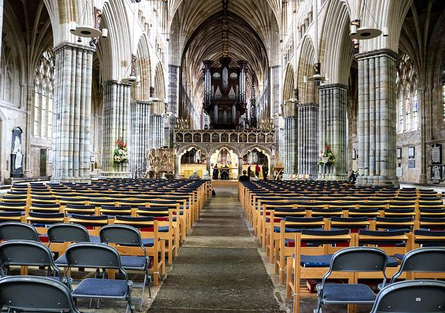 Exeter, Cathedral, England