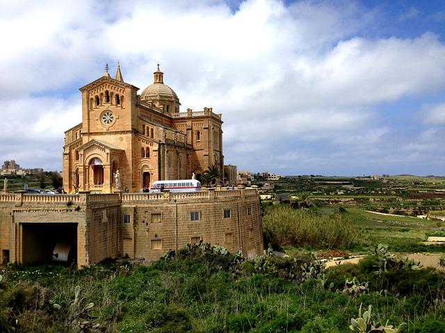 Ta' Pinu, Malta, Gozo, Church, Cathedral, Basilica