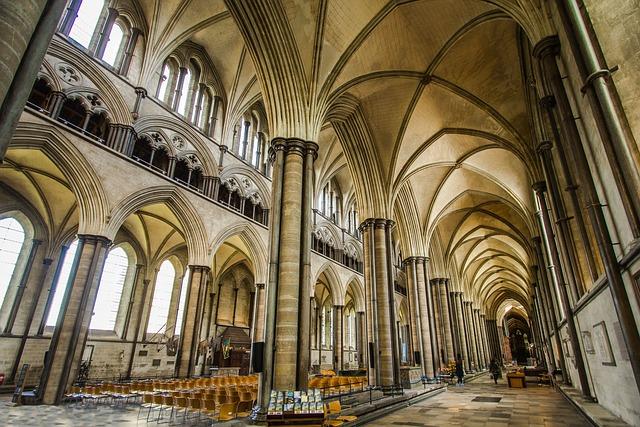 Cathedral, Salisbury, Church, Historic Building