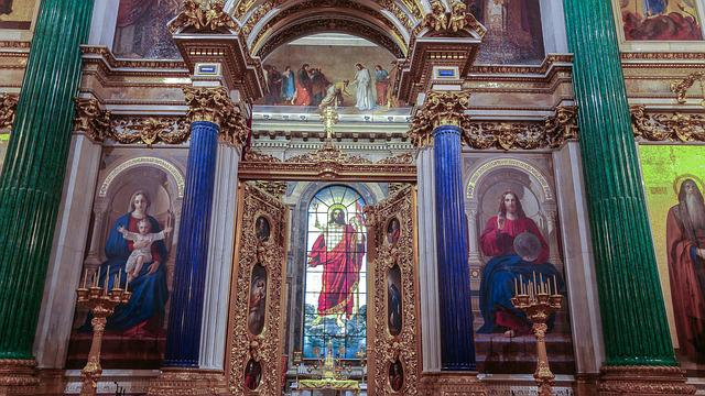 Saint Petersbourg, Cathedral, Saint Isaac, Iconostasis