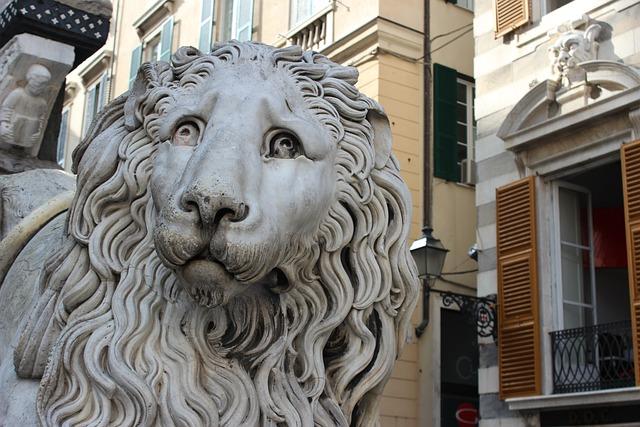 Genoa, Italy, Liguria, Leo, Marble, Cathedral