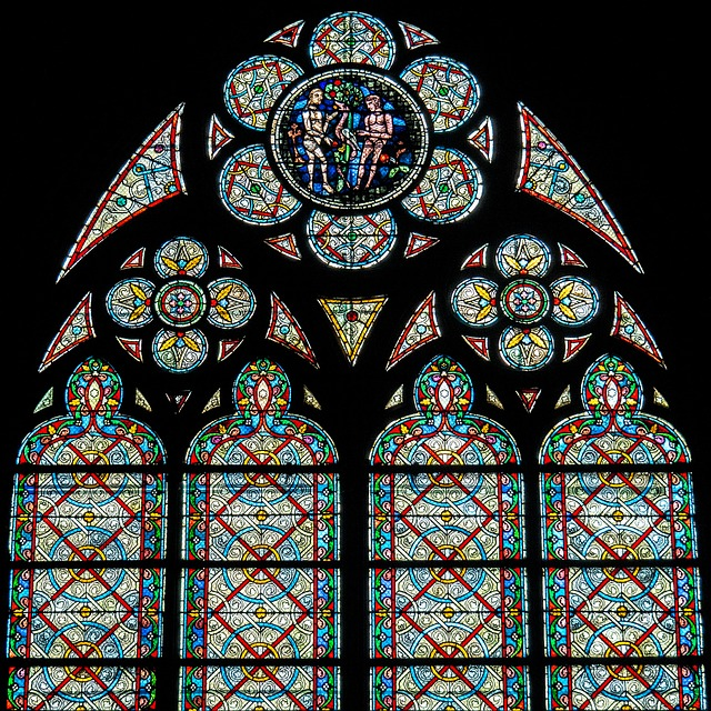 Stained Glass Window, Rosette, Louvre, Cathedral