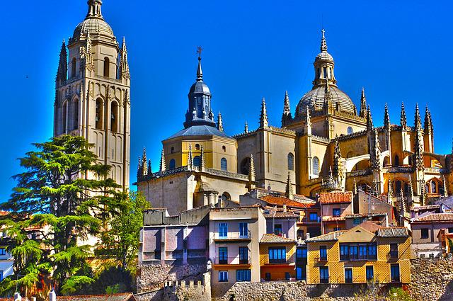 Segovia, Cathedral, Monument, City, Architecture, Spain