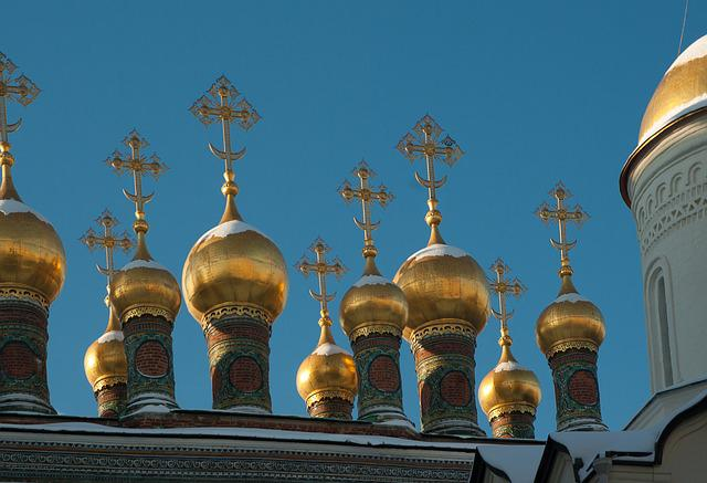 Moscow, Kremlin, Cathedral, Orthodox, Cupolas, Bulbs