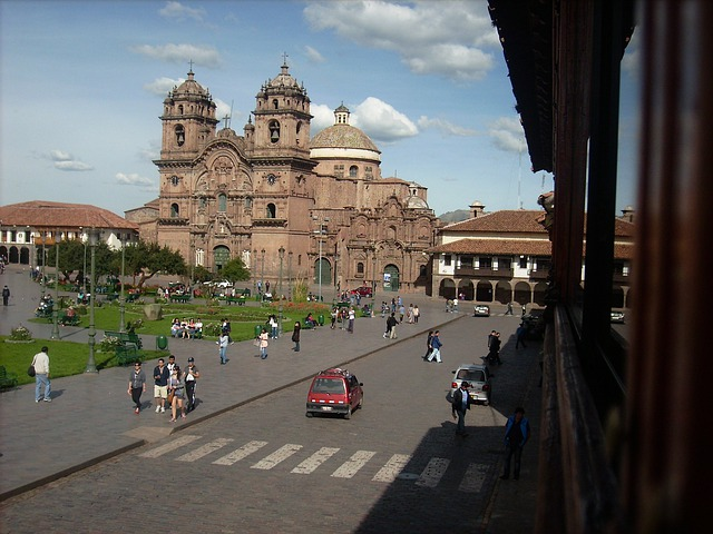 Cusco, Street, Peru, Plaza De Armas, Church, Cathedral
