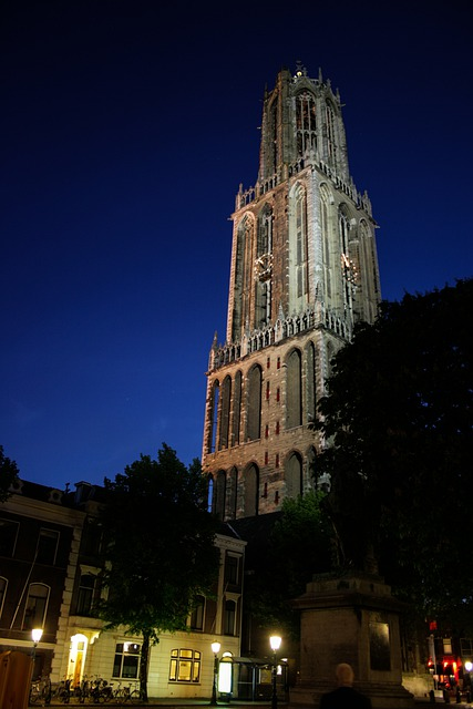 Dom, Dom Tower, Cathedral Square, Utrecht, Tower, Night