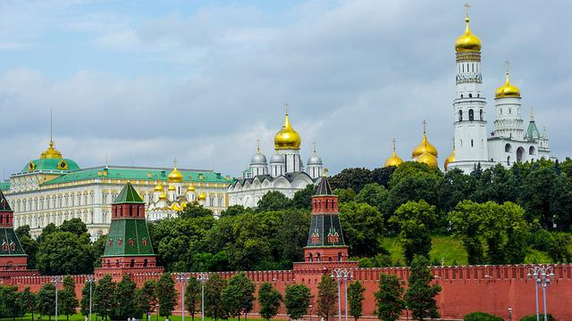 Kremlin, Moscow, Russia, Cathedrals, Historic Building