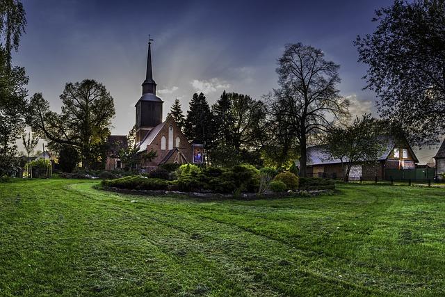 Church, Tower, Religion, Garden, Faith, Catholic