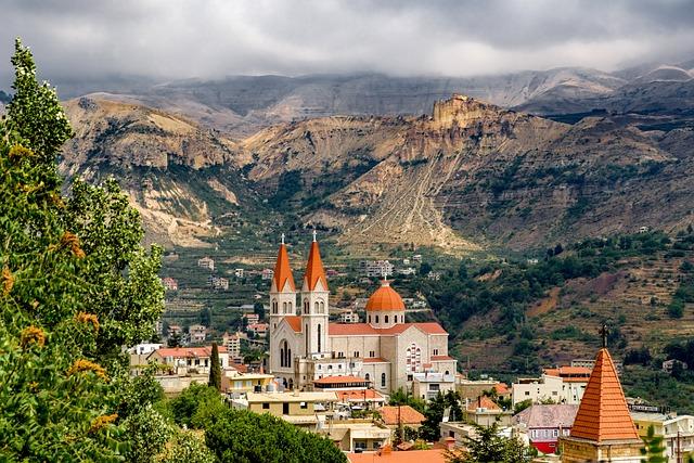Landscape, Village, Church, Catholic, Maronite
