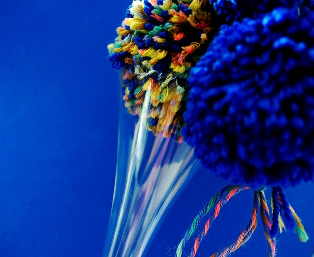 Bobble, Glass, Wool, Cat's Cradle, Knit, Colorful