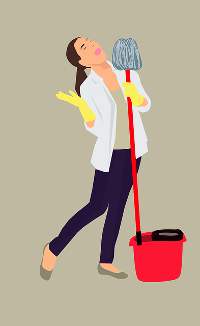 Background, Bucket, Caucasian, Chores, Cleaning, Floor