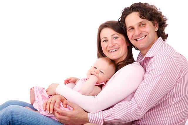 Mom, Caucasian, Child, Daughter, Family, Father, Female
