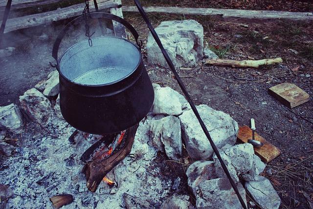 Cooking Pot, Cauldron, Black, Heat, Hot, Pot, Bonfire