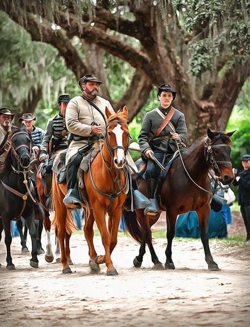Civil War, Reenactment, Horses, Cavalry