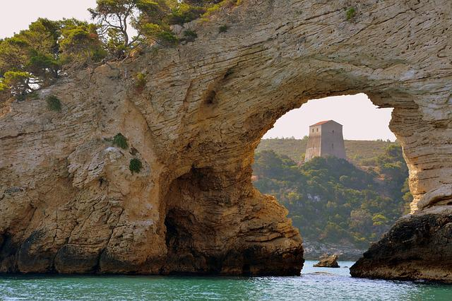 Arc, Rock, Sea, Cliffs, Nature, Cave, Lovers Arch