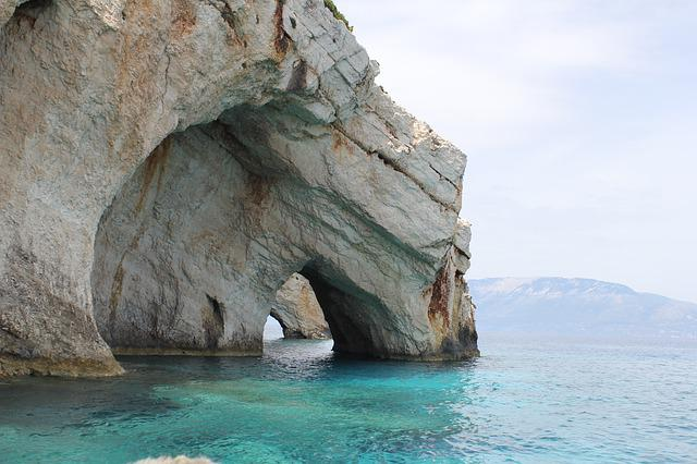 Cave On The Water, Zakynthos, Greece, Sea, Holidays