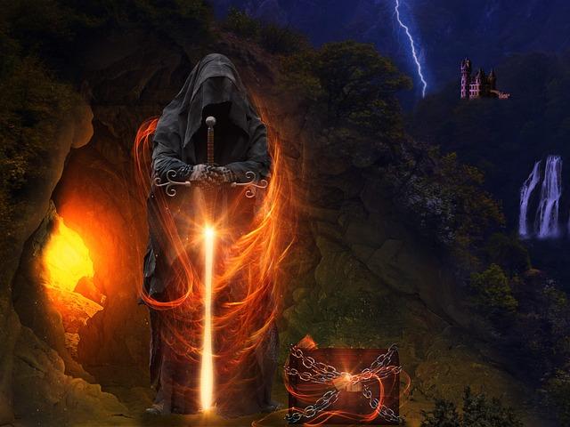 Gatekeeper, Spooky, Cave, Treasure Chest