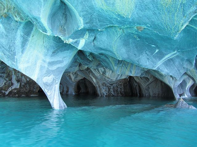 Marble, Cave, Marble Cave, Blue, Undermines, Water