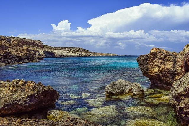 Cyprus, Cavo Greko, Mediterranean, Blue, Landscape, Sea