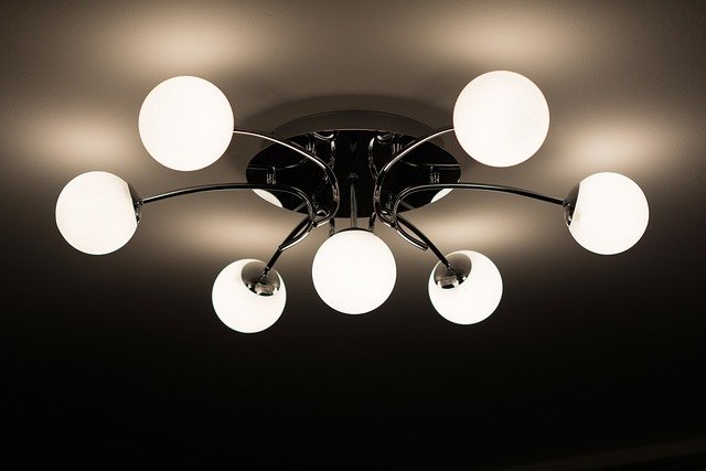 Ceiling Lamp, Lamp, Chandelier, Bulbs, Interior Design