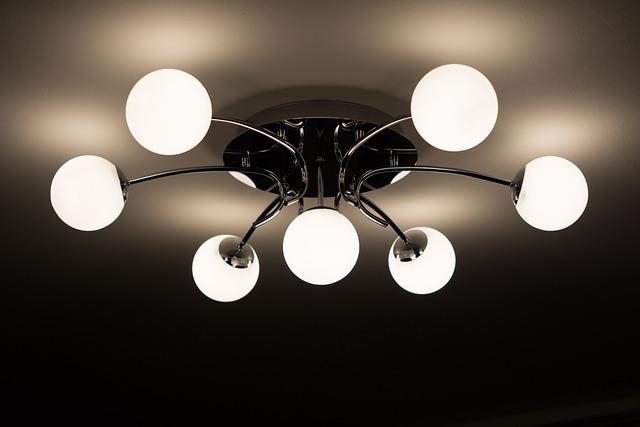Ceiling Lamp, Lamp, Chandelier, Bulbs, Interior Design