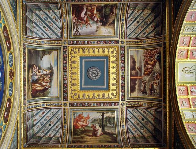 Russia, St-petersburg, Hermitage, Museum, Ceiling