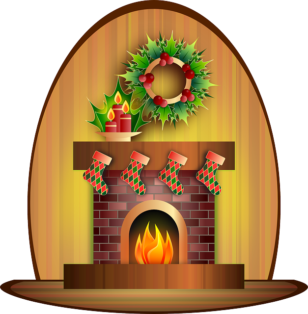 Fireplace, Candle, Celebration, Christmas, Festive
