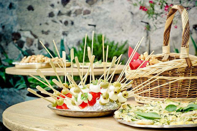 Party, Skewers, Chunks, Table, Mozzarella, Celebration