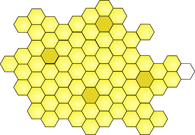 Honeycomb, Yellow, Design, Cell, Hexagon, Beeswax