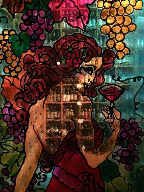 Grapes, Wine, Cellar, Color Glazed, Bottles, Bottle
