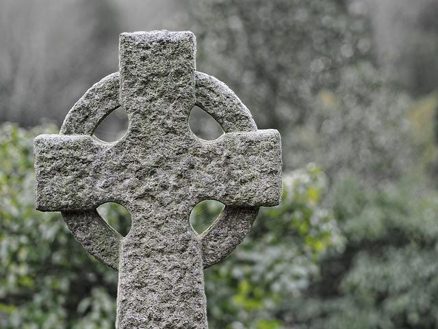 Stone, Celtic, Cross, Ancient, Celtic Cross, Cemetery
