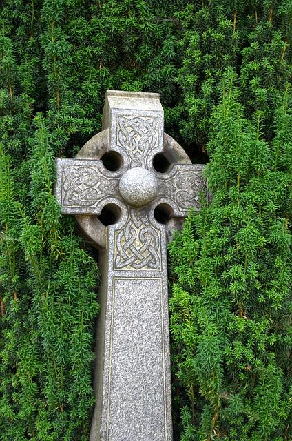 Celtic Cross, Celts, Scotland, Cemetery, Grave