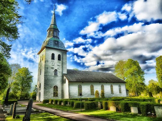 Varmland, Sweden, Church, Architecture, Cemetery, Hdr