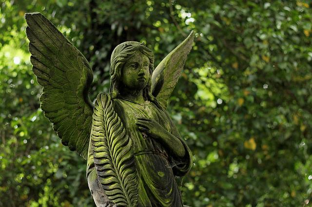 Angel, Statue, Stone, Cemetery, Character, Death
