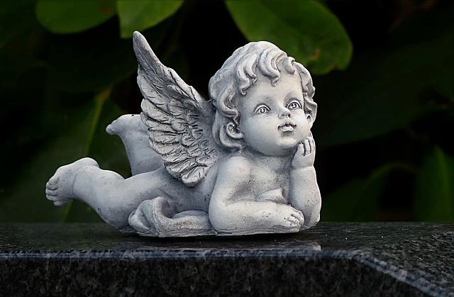 Angel, Figure, Lying, Deco, Cemetery