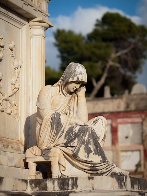Cemetery, Mourning, Grave, Tombstone, Angel, Sculpture