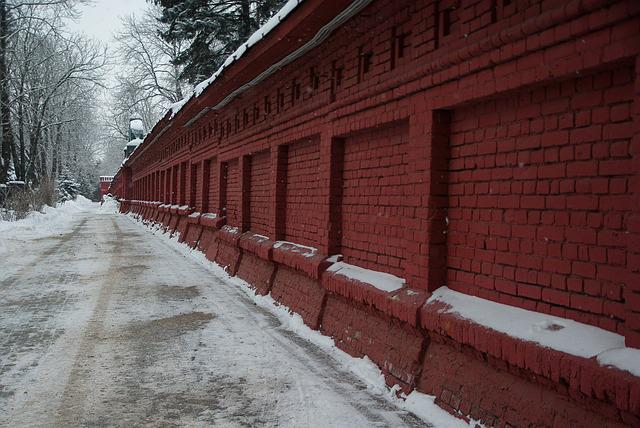 Moscow, Cemetery, Graves, Snow